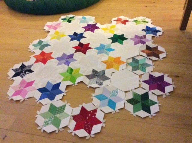 patchwork stjerner heksagoner