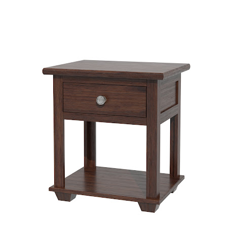 Monrovia Nightstand with Shelf, Mocha Walnut