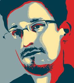Grafik: Porträt Snowden