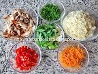 Salata de cuscus cu peste afumat cu ceapa verde preparare