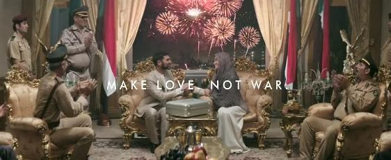 AXE Peace Make Love Not War Super Bowl XLVIII Ads