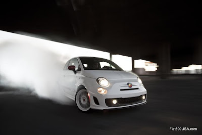 US Fiat 500 Abarth tire shredding performance