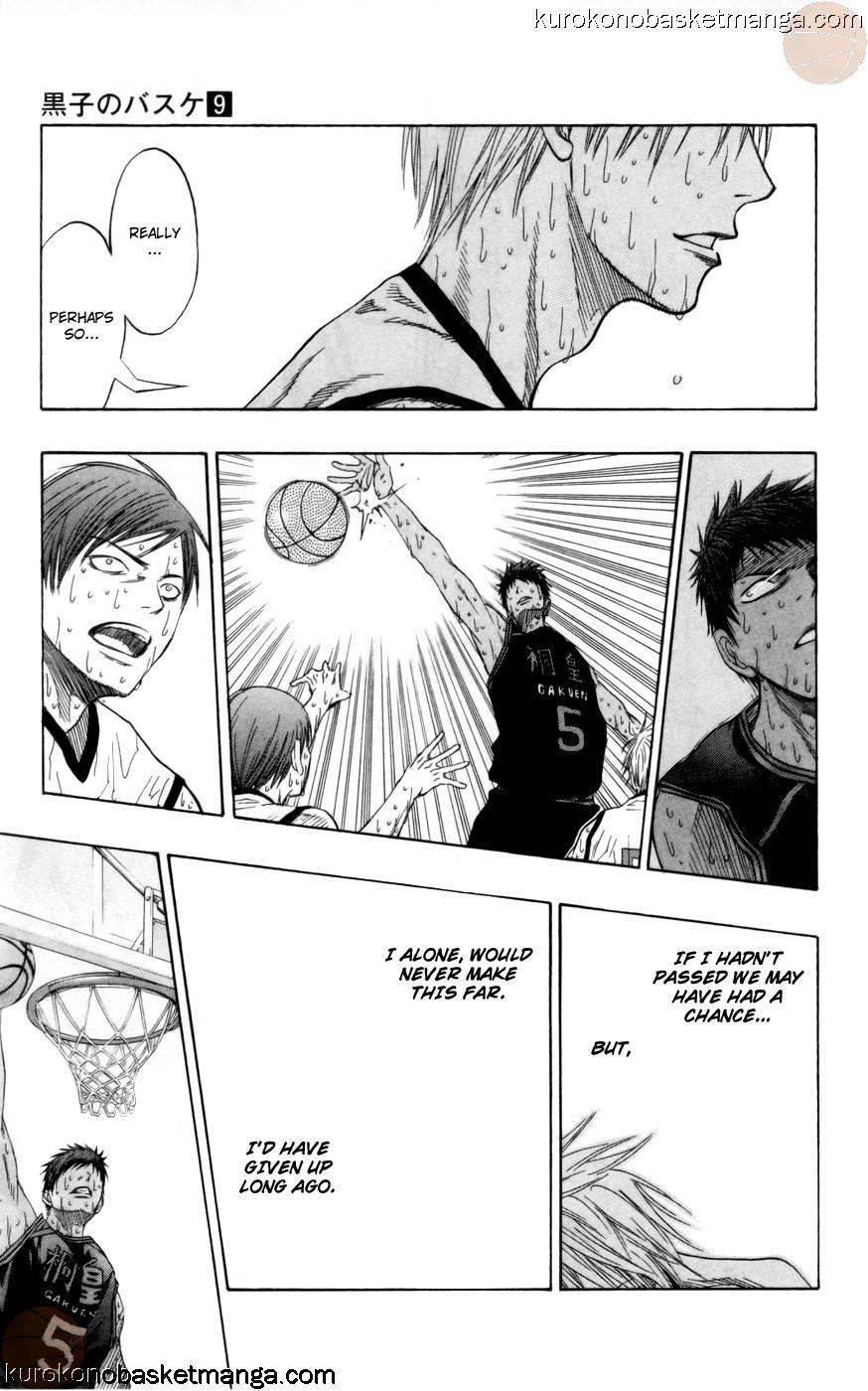 Kuroko no Basket Manga Chapter 72 - Image 17