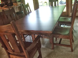 Cordoba Dining Table and Montrose Dining Chairs in Lexington Oak