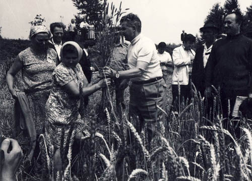 Ceausescu at Contesti-Boteni