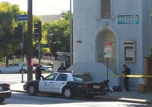 homeless Man found dead outside Echo Park church  photo
