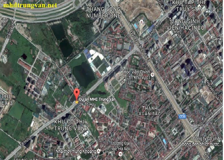 Vị trí dự án MHD Trung Văn