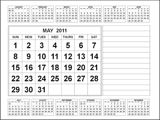 may calendar for 2011. calendar template may 2011.
