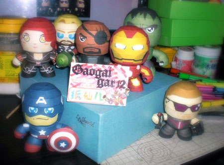 Avengers Paper Toy Q version