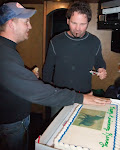 So, Kenny & Tim McGraw got arrested at this venue 9 years ago for stealing a horse from a deputy....  They made him an anniversary cake....which they left so I grabbed it...I've got a thing for other people's cakes I guess...anyways..Pone tried to keep Alex away from it