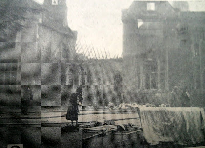 ess coverage of the fire at Little Shelford Hall. Built 1851. Burnt down 1929