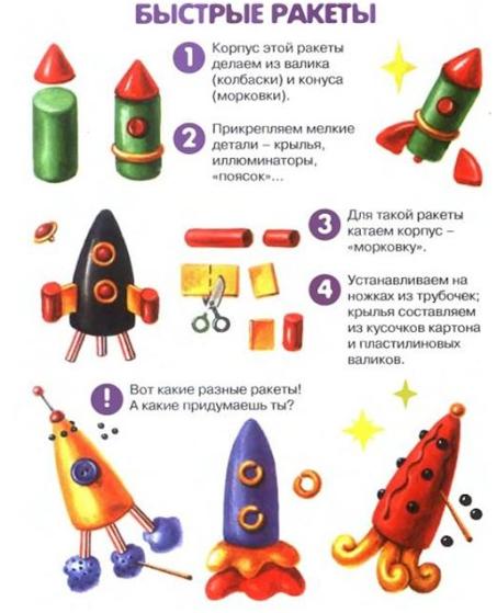 поделка ракета