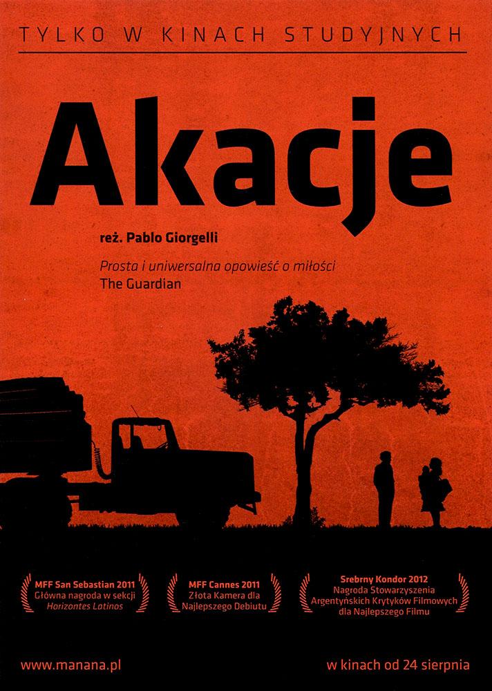 Ulotka filmu 'Akacje (przód)'