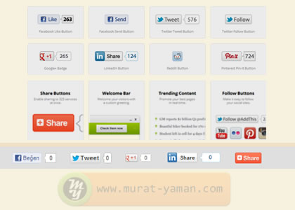 AddThis paylaşım butonlarını blog yazılarımızın altına nasıl yerleştirebiliriz?