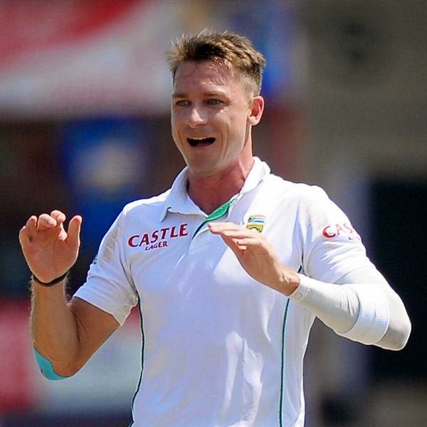 South African cricketer Dale Steyn celebrates after he dismissed Sri Lankan batsman Upul Tharanga during the opening day of the second Test match between Sri Lanka and South Africa at the Sinhalease Sports Club (SSC) Ground in Colombo on July 24, 2014.
