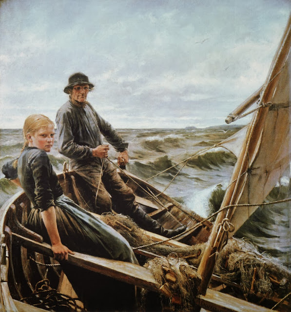 Albert Edelfelt - At sea