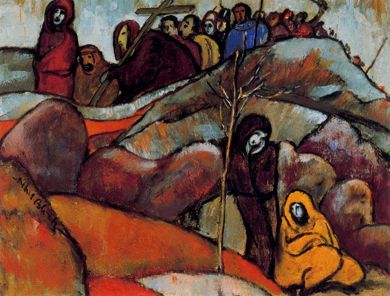 Albert Bloch - Procession of the Cross