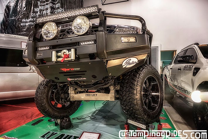 Some of the Best Modified 4x4s of 2013 Manila Auto Salon Custom Pinoy Rides Car Photography Philippines Philip Aragones Winch Bumper LED Lights