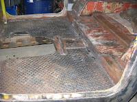 Completed diamond plate floor pans