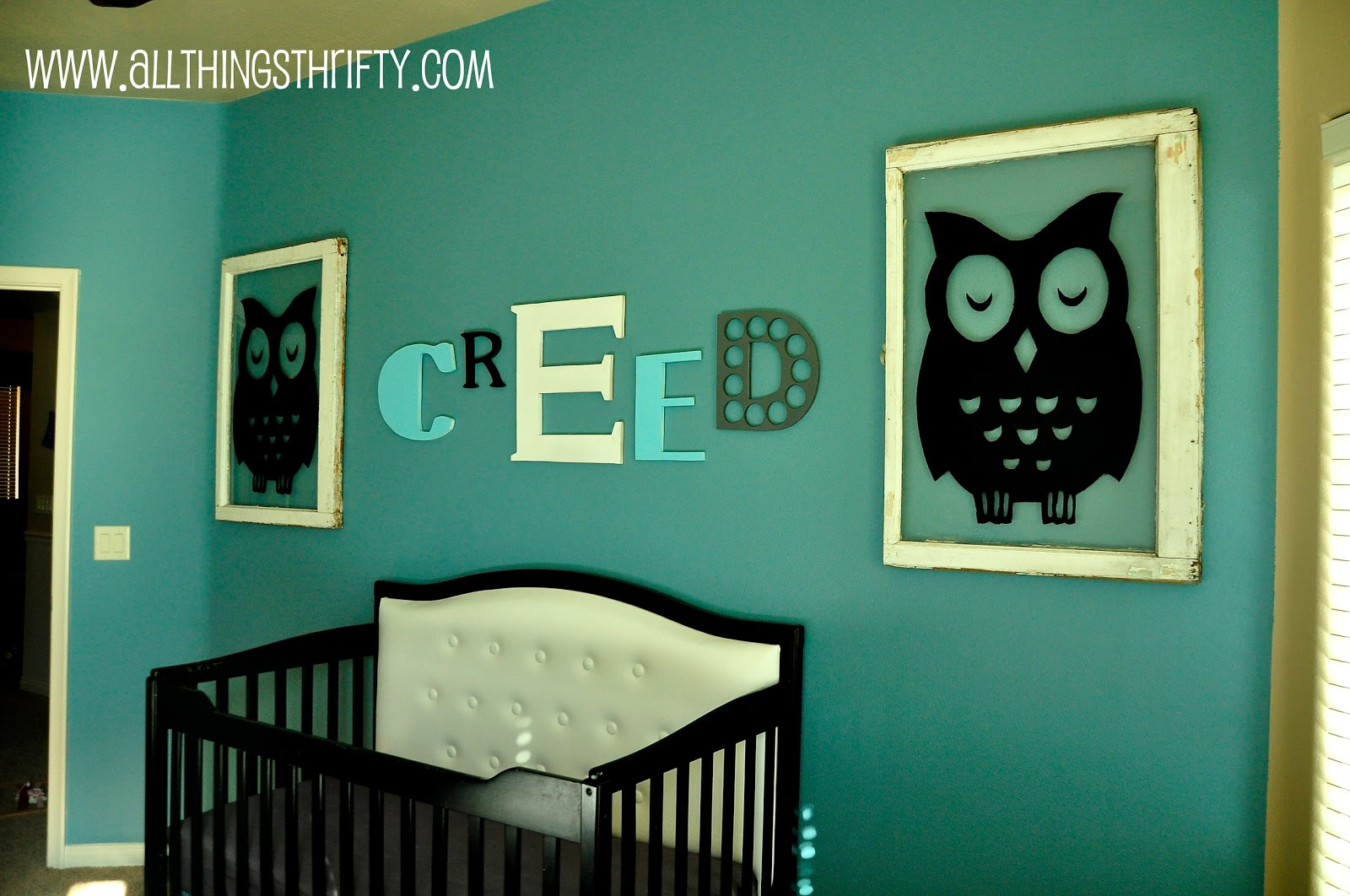 Baby Boy Nursery Completed All Things Thrifty