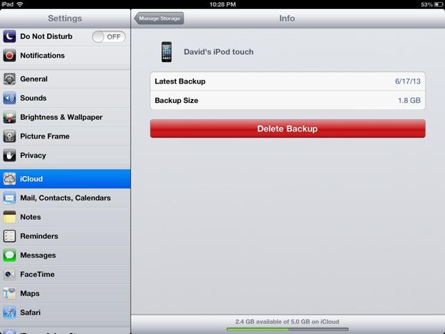 Ez Ipad Help Icloud Storage Almost Full