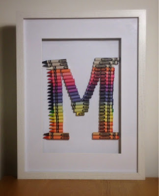 All Hans-on DIY Framed Crayon Letter for under £20