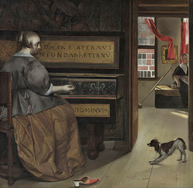 Gabriel Metsu - Lady at a Virginal - Google Art Project