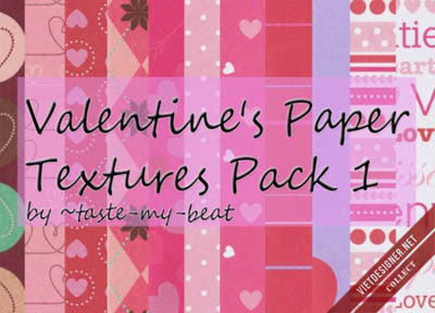 21 Valentine's Paper Textures Pack 1