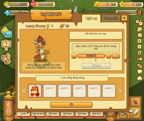 Nuôi Rồng có mặt trên mạng chơi game Soha 4