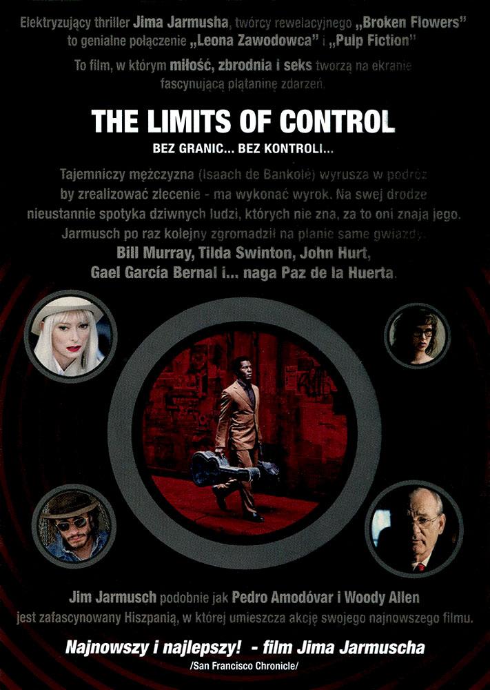 Ulotka filmu 'The Limits Of Control (tył)'