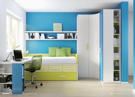 Dormitorios juveniles en color azul ideas decoraci n ig for Dormitorios juveniles para ninos