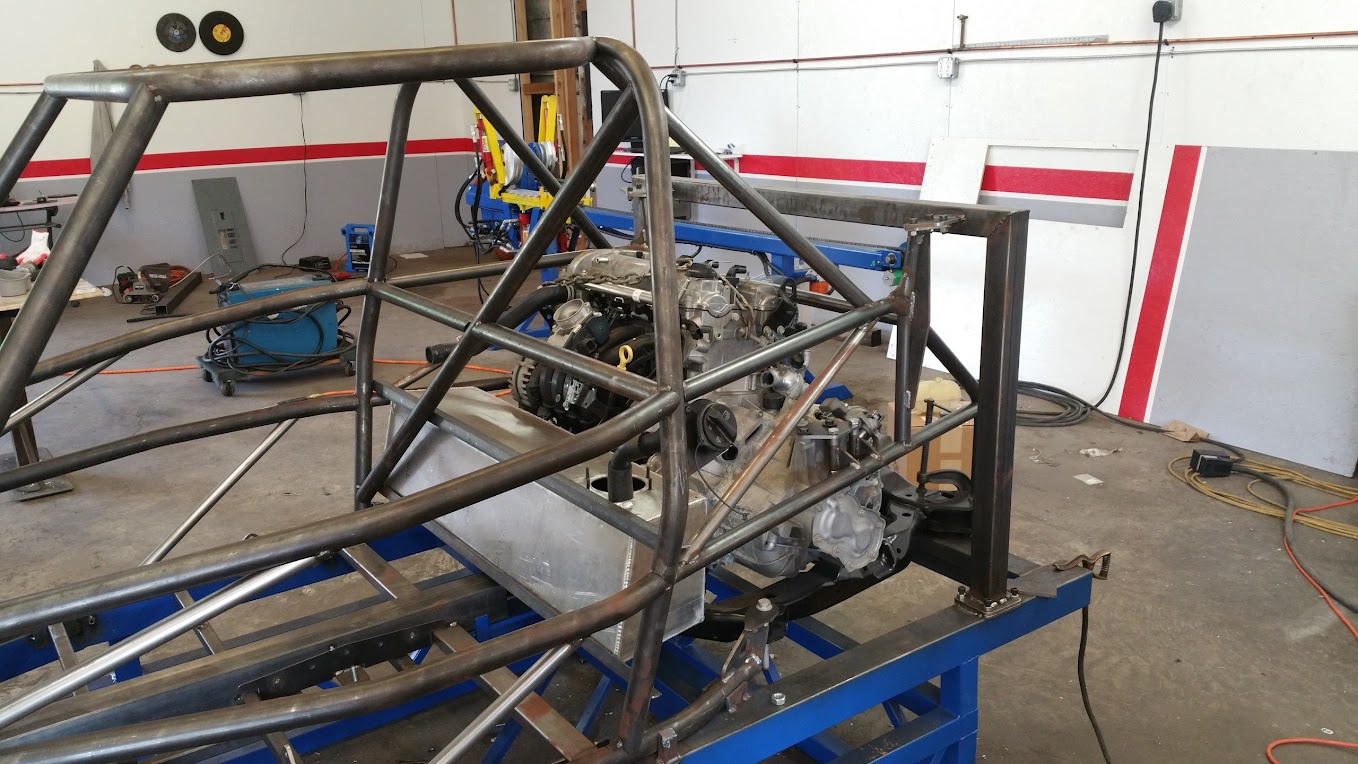 DF Goblin prototype 2 rear cage with engine installed