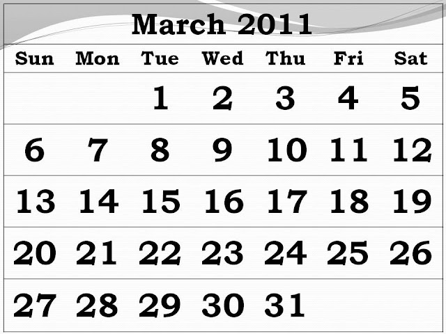 free printable blank calendars 2011. Free Printable Calendar 2011
