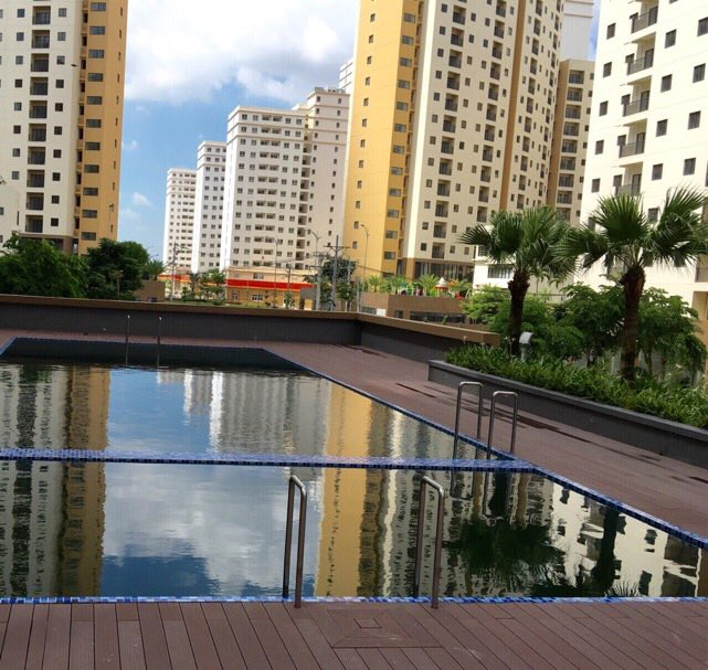 Tiện ích hồ bơi tại căn hộ Bình Khánh