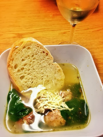 simple italian wedding soup on katy's kitchen