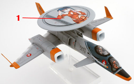 Macross 1/72 ES-11D Cat's Eye Armament weapon position