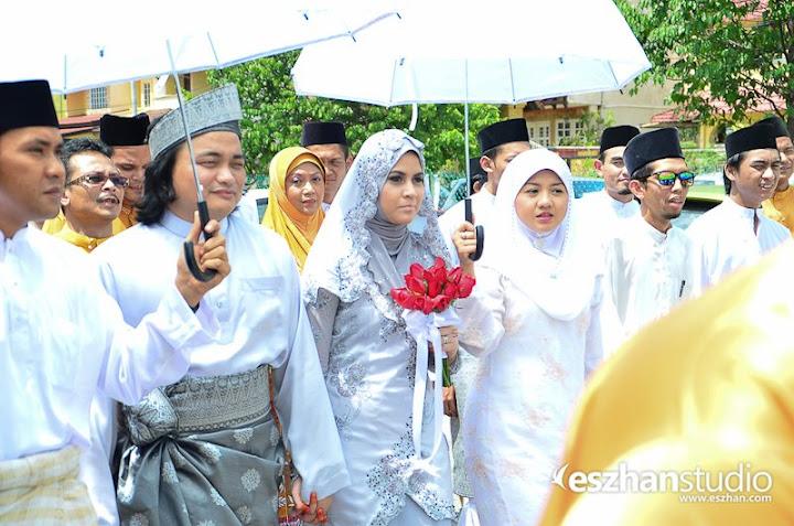 gambar perkahwinan ana raffali dan aznaim