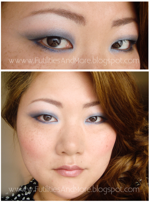 Light Blue Smokey Eyes Makeup Tutorial, maybelline expert wear twilight ray, circle lenses, pinkyparadise, asian beauty, korean, makeup asian blog, makeup blog, monolid, single lid, asian hair, black hair, light brown, futilitiesandmore.blogspot.com, futilities and more, futilitiesandmore, monolid, asian beauty, asian, makeup review, make up, makeup, cosmetics, maquillage, fond de teint, korean cosmetic
