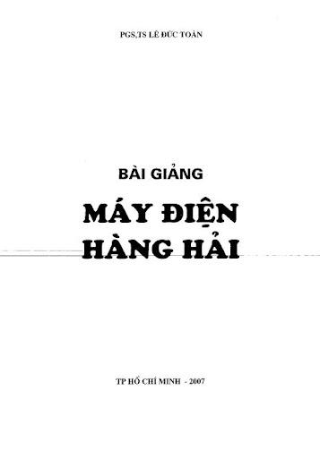 Máy điện hàng hải - PGS.TS Lê Đức Toàn Untitled