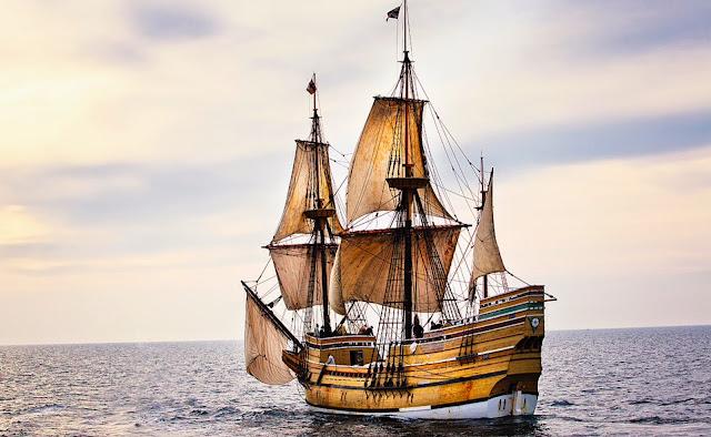 Recreación del Mayflower - www,historiadelascivilizaciones.com