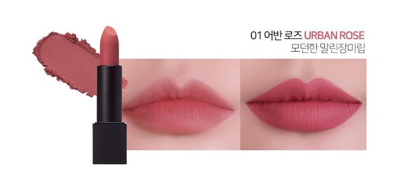 Son LUNA Realway Velvet Lipstick Urban Rose