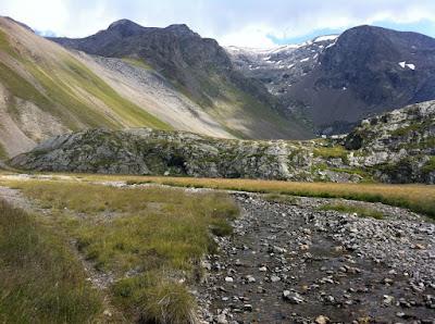 Les 2 Alpes - la Fée, le glacier au loin