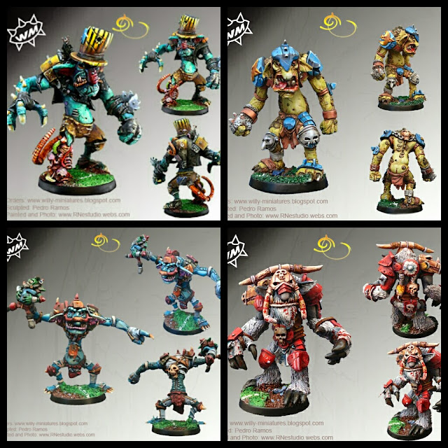Blood Bowl Troll Willy miniatures