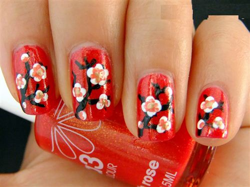 Chinese new year nail designs 2016 best nails 2018 unique chinese new year 2016 nail art design es poems prinsesfo Images
