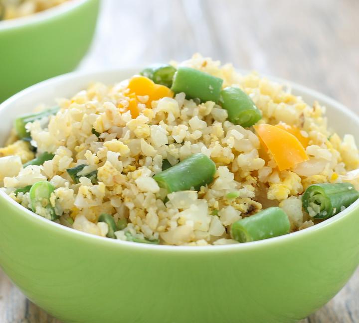 close-up photo of Cauliflower Fried Rice