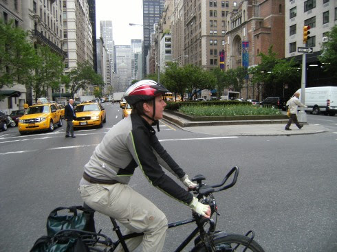 Miri on the Bike in Manhattan
