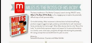 Miles Is The Boss Of His Body Latest Book From Mother Company Inspired By This Unfortunate Fact About Safety Our Children