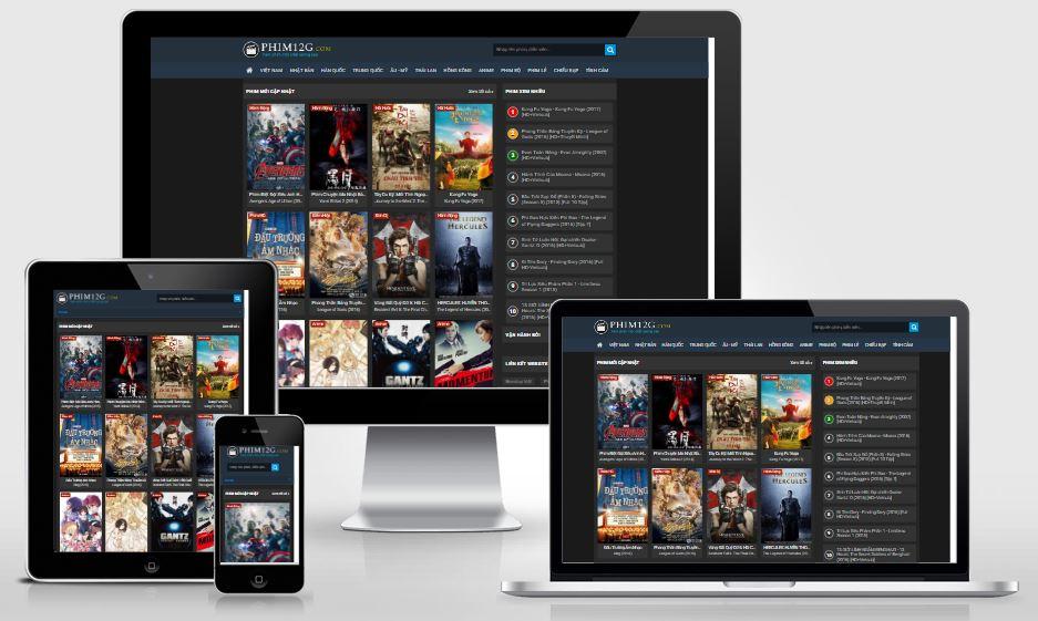 Chia sẻ mẫu Template Blogger Phim 12g tuyệt đẹp bởi phim49.com