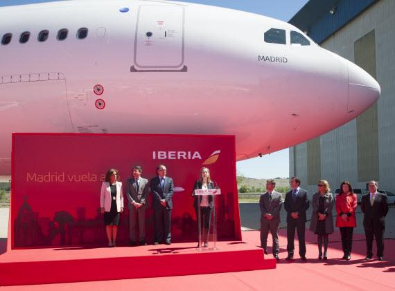 Nuevo A330 de Iberia bautizado como 'Madrid'