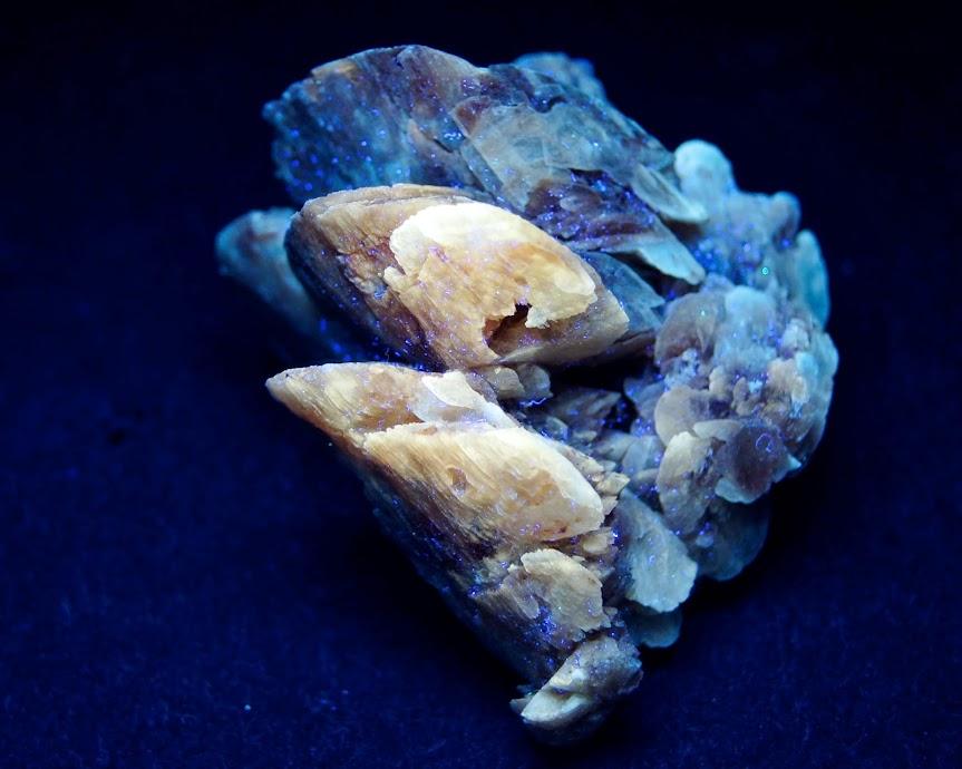Colección de Minerales Fluorescentes Yeso+lenticular+UVc